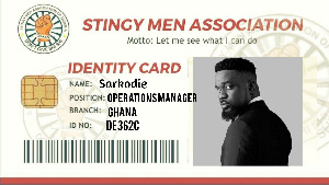 73235168.295 - Sarkodie's response as he 'accepts' his card as member of Stingy Men Association Ghana