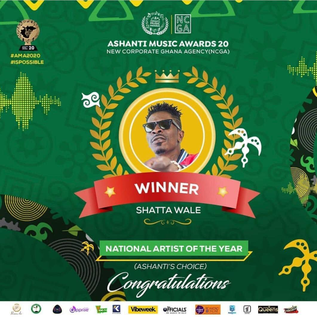 IMG 20210106 000804 - Check Full Details: Shatta Wale And Other  Winners Of Ashanti Music Awards 2020
