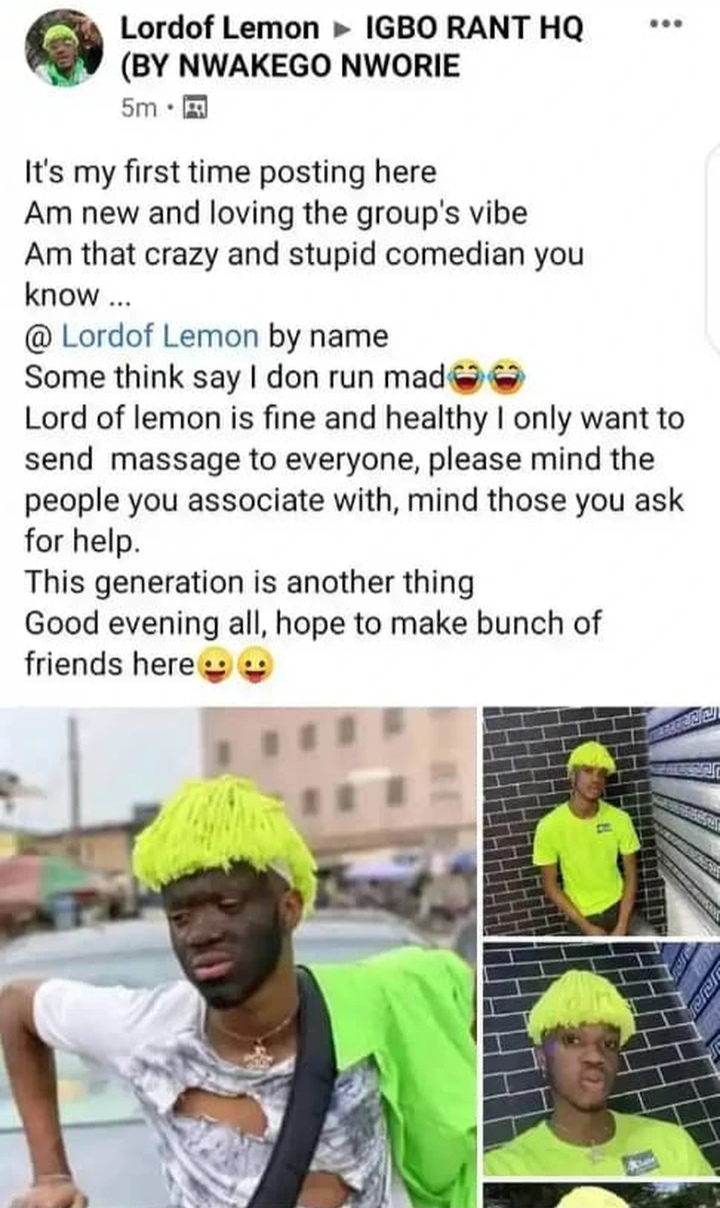Screenshot 20210322 112622 - The Young Man Who Pretended To Be Mad Two Weeks Ago Has A Message For All Ghanaian Youths