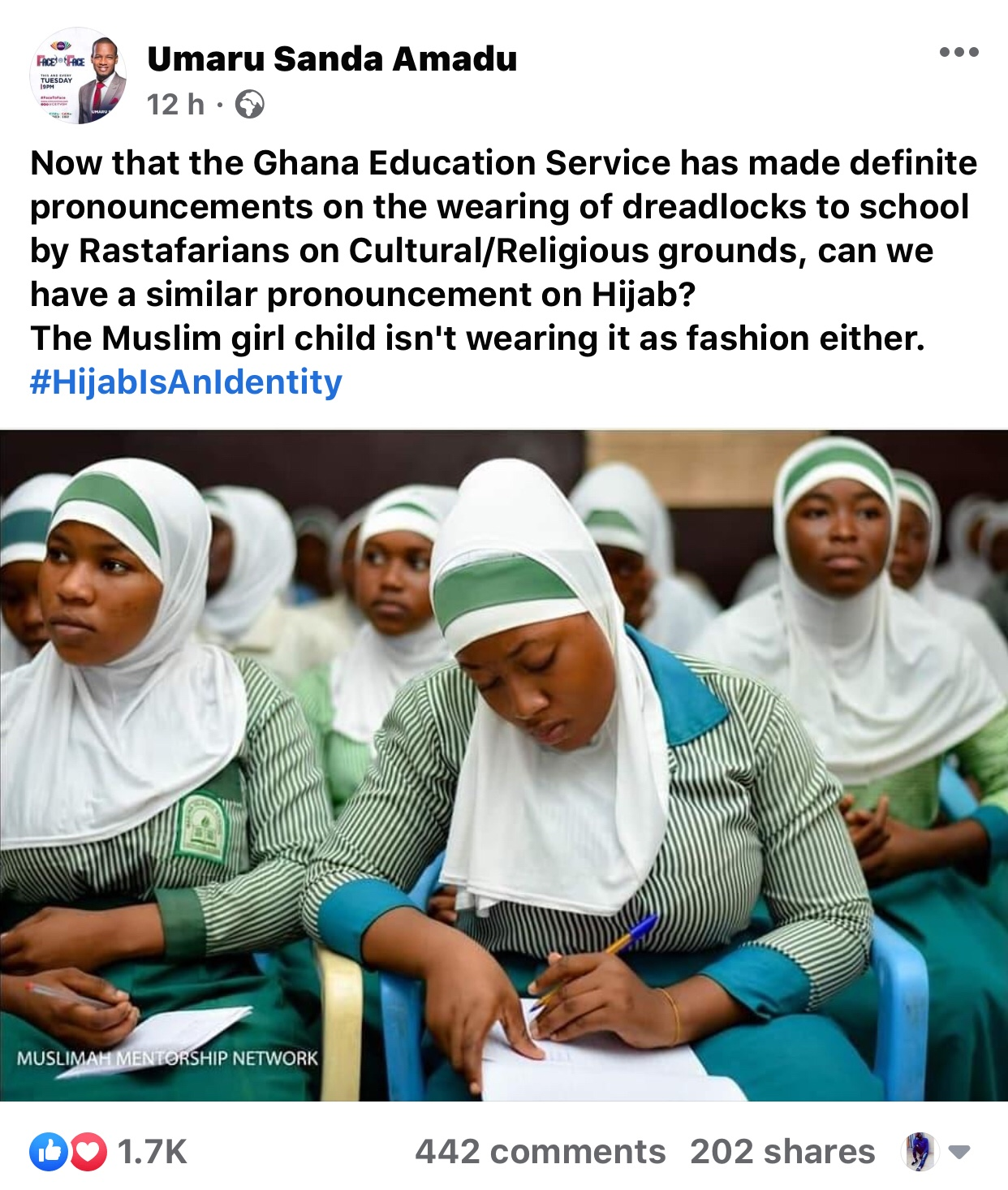 img 5676 - Read Full Details: What Umaru Sanda Tells GES To Do To Muslim Girls Wearing Hijab In Schools After Refusing To Admit The Two Rastafarians