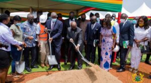 20210527 012912 300x166 - President Nana Akufo-Addo cuts sod for construction of Phase 1 of Law School Village.
