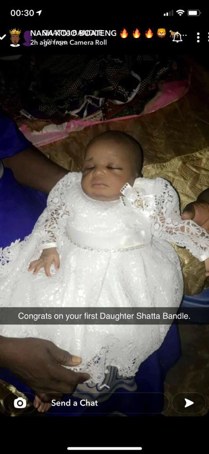 9200C145 56A0 4689 A5B7 49D95DE37D33 - Shatta Bundle Storms His Daughter Naming Ceremony With His Brothers (Photos)