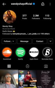 Screenshot 20210530 164134 1 642x1024 1 188x300 - Wendy Shay's Instagram Account Hacked After Releasing Her Latest Album On Friday