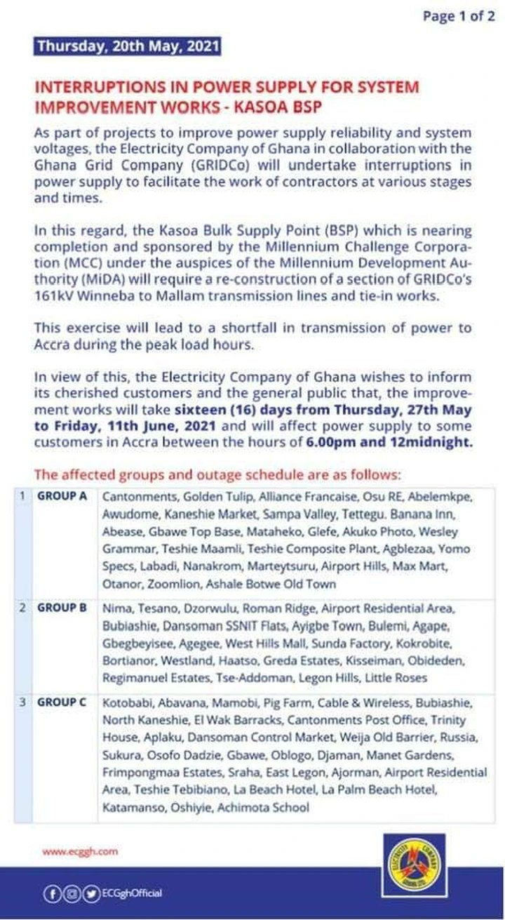 youngmaya2 - ECG Releases Another  16-days Dumsor Timetable (Read More)