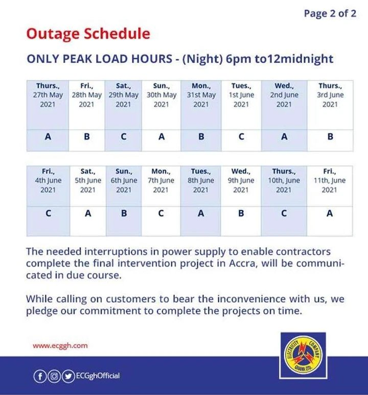 youngmaya3 - ECG Releases Another  16-days Dumsor Timetable (Read More)