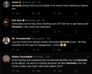 omar 2 300x243 - Paedae Allegedly Ignored Sarkodie On His New Album Because Of His Poor English Rap Ability ( Photos)