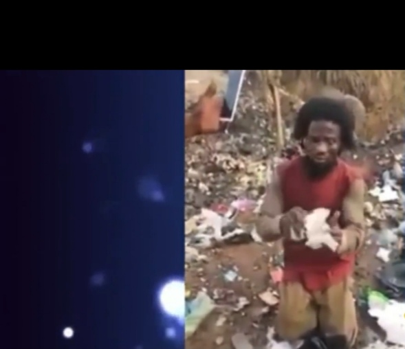 Screenshot 20211015 152240 - Man faking madness to collect sanitary pads at dumpsite caught red-handed (Video)